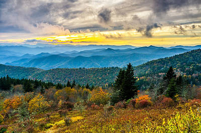 Photograph - Fall At Cowee Mountains Overlook by Anthony Heflin