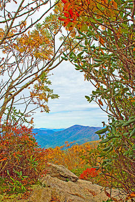 Asheville Photograph - Fall At Craggy Pinnacle by Mela Luna