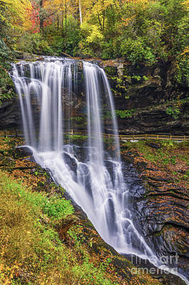 Dry Falls In Autumn Art Print by Anthony Heflin