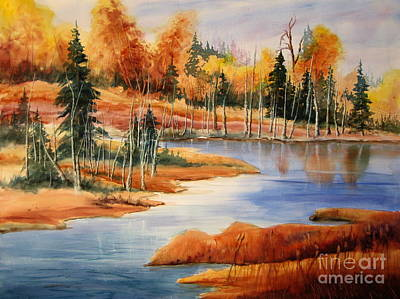 Fall At Elk Island  Art Print by Mohamed Hirji