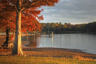 Fall At Georgia Lake Art Print