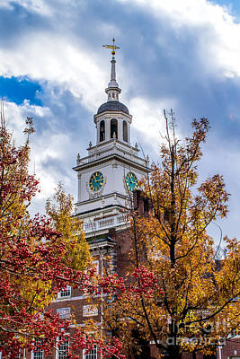 Photograph - Fall At Independence Hall by Nick Zelinsky