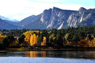Fall At Lake Estes Art Print by Tranquil Light  Photography