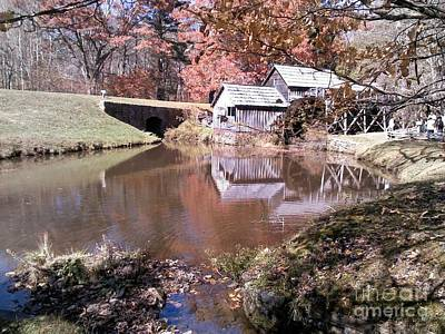 Digital Art - Fall At Mabry Mill By Angelia H Clay by Angelia Hodges Clay