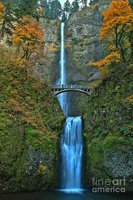 Photograph - Fall At Multnomah by Adam Jewell