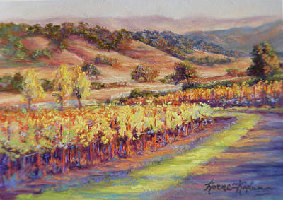 Pastel - Fall At Rusack's Front Gate by Denise Horne-Kaplan
