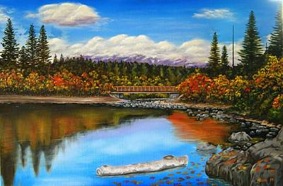 Lakeside In Autumn Art Print