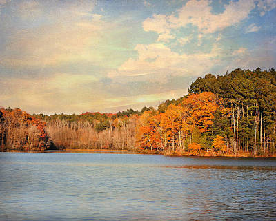 Paintography Photograph - Fall At The Lake II by Jai Johnson