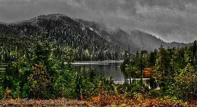 Art Print featuring the photograph Fall At The Lake. by Timothy Latta