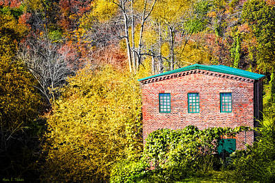 Fall At The Old Mill In Roswell Art Print