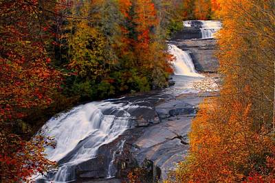 Fall At Triple Falls Art Print