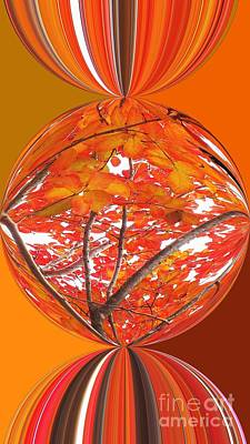 Fall Ball - Autumn Leaves And Color Art Print by Scott Cameron