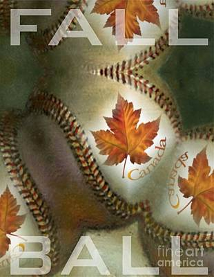 Digital Art - Fall Ball by Maria Watt