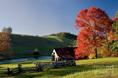 Photograph - Fall Barn - 2008 by Matthew Turlington