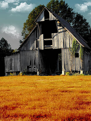 Photograph - Fall Barn by Kristie  Bonnewell