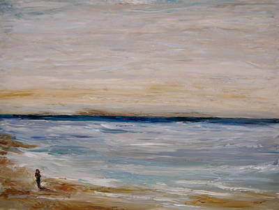 Santa Monica Painting - Fall Beach Day 3 by Lindsay Frost