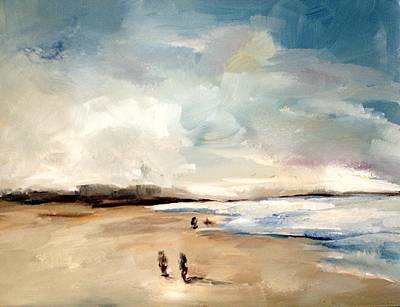Santa Monica Painting - Fall Beach Day Two by Lindsay Frost