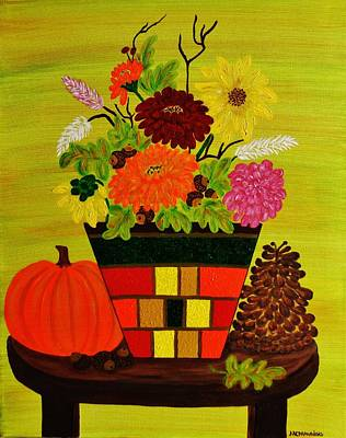 Painting - Fall Bouquet by Celeste Manning