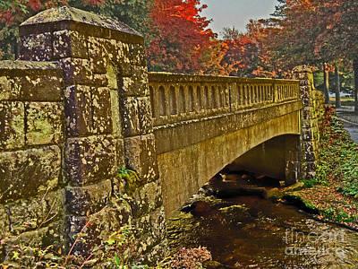 Fall Bridge Art Print by Larry Bishop
