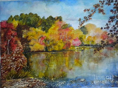 Painting - Fall Burst Of Colors by Madie Horne