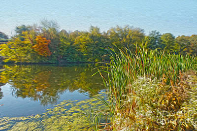 Fall By The River Art Print by Nur Roy
