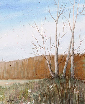 Art Print featuring the painting Fall Clearing by Rebecca Davis
