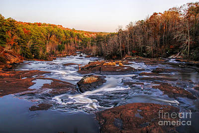 Photograph - Fall Color Along The Towaliga River by Barbara Bowen