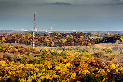 Photograph - Fall Color And Downtown by Randy Scherkenbach
