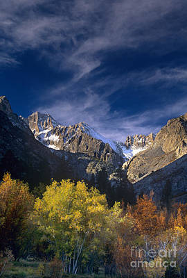 Photograph - Fall Color Below Middle Palisades Glacier Eastern Sierras California by Dave Welling