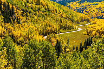 Fall Color Scenic Drive Art Print by Teri Virbickis