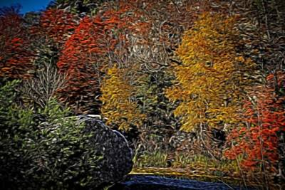 Maps Maps And More Maps - Fall Colors Air Brush by Judy Vincent