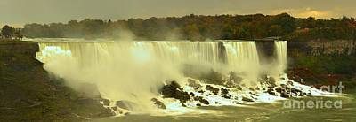 Photograph - Fall Colors At American Falls Panorama by Adam Jewell