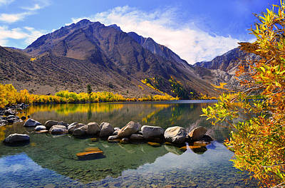Fall Colors At Convict Lake  Art Print