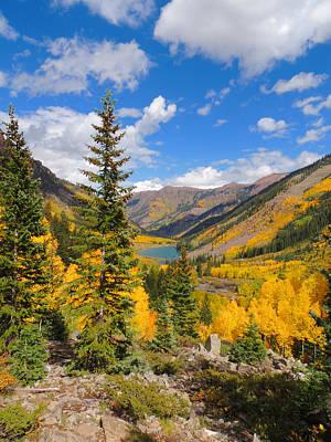Fall Colors At Maroon Lake 2 Art Print by Steve Anderson