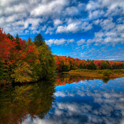 Landscapes Photograph - Fall Colors At The Green Bridge by David Patterson