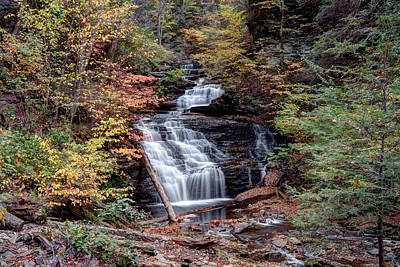 Photograph - Fall Colors From Below Mohican Falls by Gene Walls