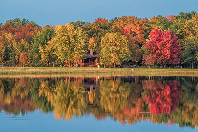 Fall Colors In Cabin Country Art Print by Paul Freidlund