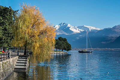 Fall Colors In Locarno Of Switzerland Art Print by Ayhan Altun