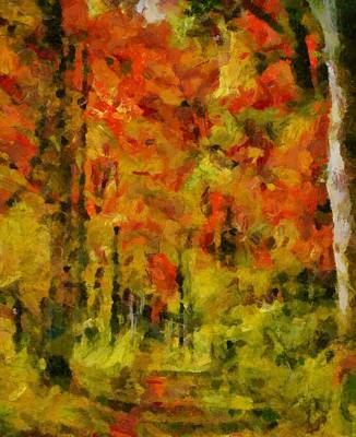 Ohio Painting - Fall Colors In Ohio by Dan Sproul