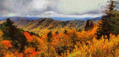 Gatlinburg Painting - Fall Colors In The Smoky Mountains by Dan Sproul