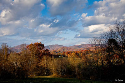 Photograph - Fall Colors North Carolina Mountains by John Pagliuca