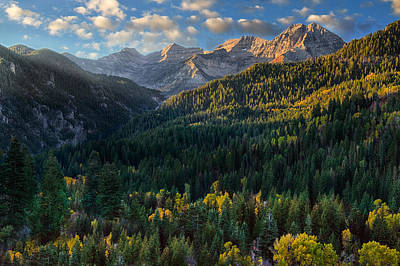 Photograph - Fall Colors On Mt. Timpanogos by Utah Images