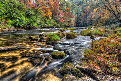 Photograph - Fall Colors On The Chattooga River by Dustin Ahrens