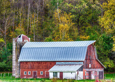 Unique Quilts Photograph - Fall Colors On The Farm by Paul Freidlund