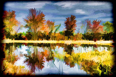 Photograph - Fall Colors Reflection by Beth Sawickie