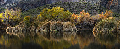 Photograph - Fall Colors Reflections by Dave Dilli