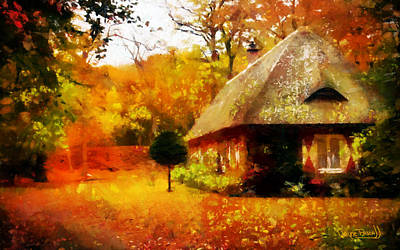 Art Print featuring the painting Fall Colors by Wayne Pascall