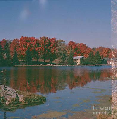 Photograph - Fall Colour Still Water by Vintage Photography