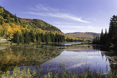 Photograph - Fall Colours With Lake In Canada by Josef Pittner