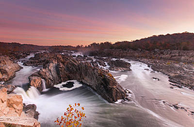 Fall Comes To Great Falls Art Print by Martin Radigan